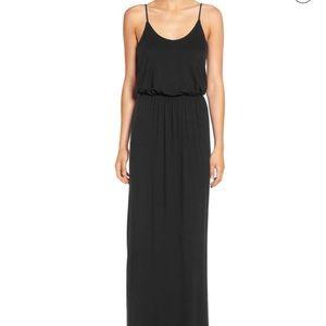 Lush black maxi dress